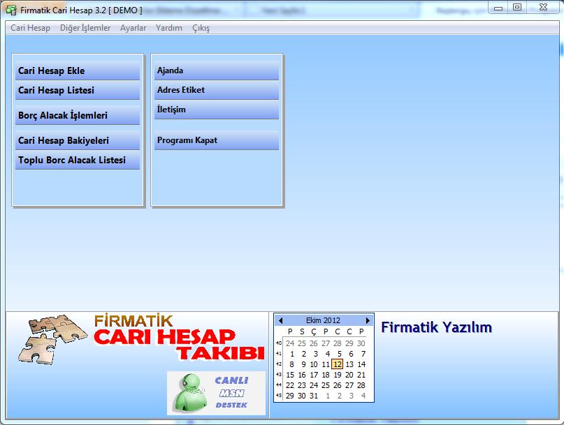 Borç Alacak Programı ekran resmi